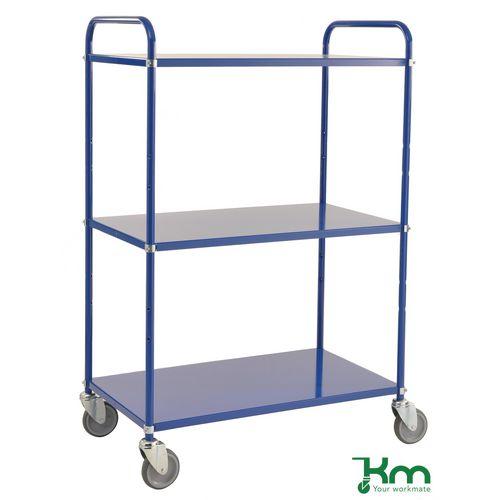Tray Trolley 3 Shelves Blue