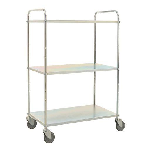Tray Trolley 3 Shelves El.Galv