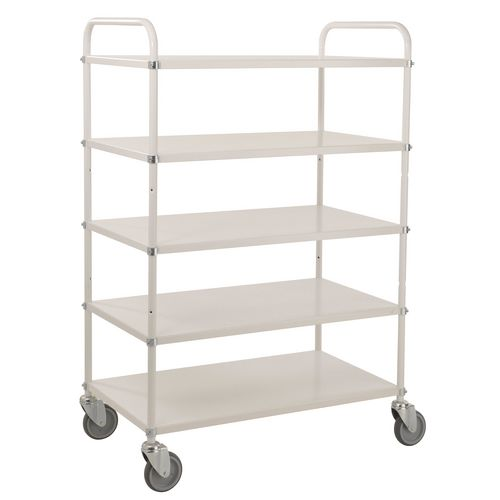 Tray Trolley 5 Shelves White