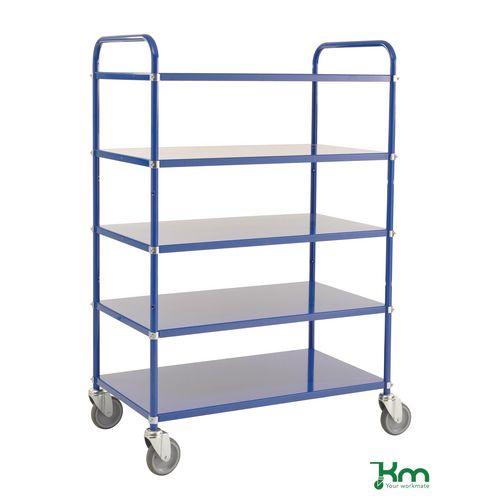 Tray Trolley 5 Shelves Blue