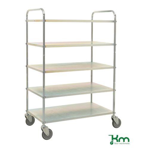 Tray Trolley 3 Shelves E.Galv
