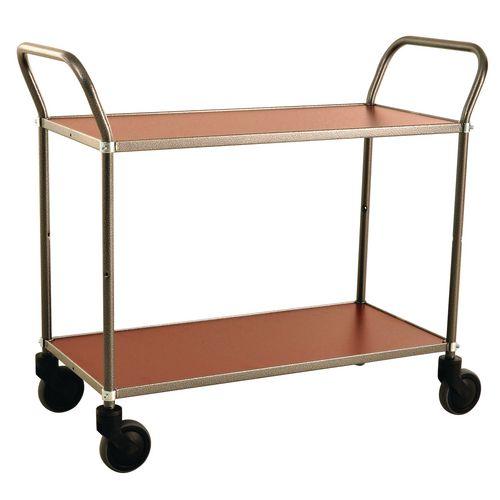 Trolley 2 Shelves Grey/Mahog