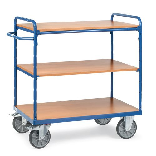 Melamine Shelved Trolley 1100mm High With 3x600mm Deep Shelves