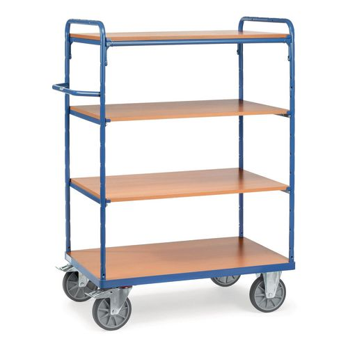 Melamine Shelved Trolley 1500mm High With 4x600mm Deep Shelves