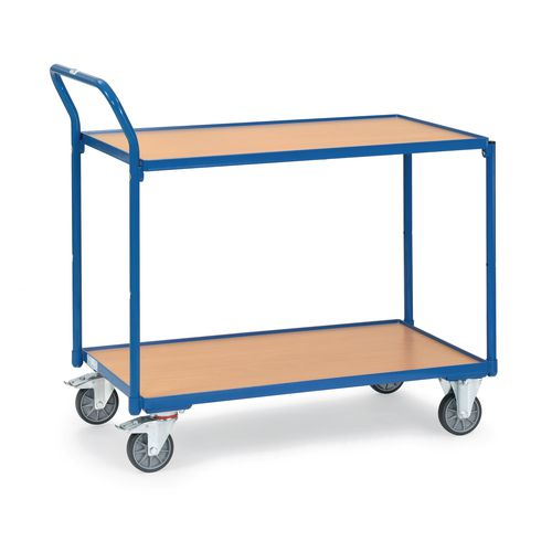 Table Top Cart 1000x600mm With 2 Shelves &Angled Handles