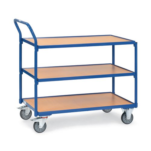 Table Top Cart 1000x600mm With 3 Shelves &Angled Handles