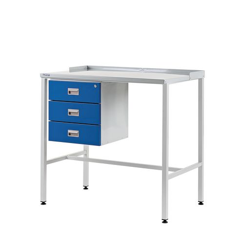 Flat Top Teamleader Workstation With Triple Drawer 920.1000.600