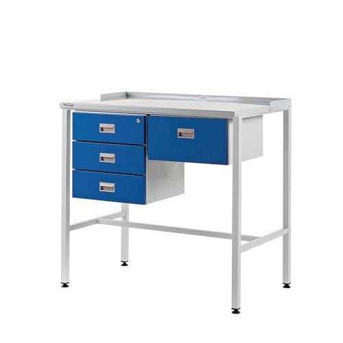 Flat Top Teamleader Workstation With Triple Drawer &Single Drawer 920.1000.600