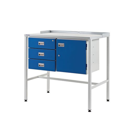 Flat Teamleader Workstation With Triple Drawer &Cupboard 920.1000.600