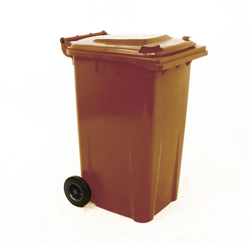 Refuse Container 240 Litre 2 Wheeled Colour Brown