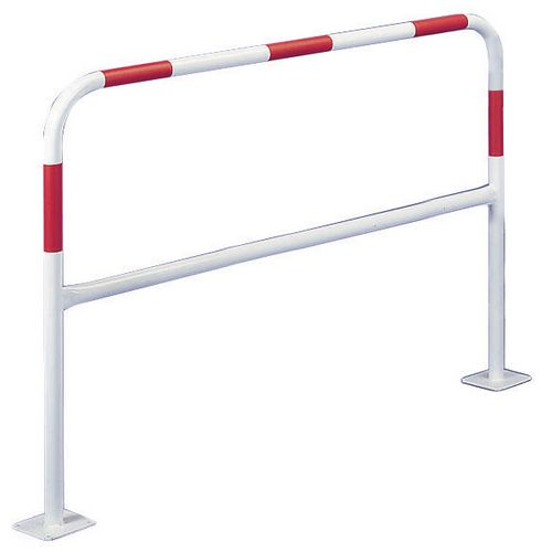 Concrete-In Barrier 40mm 2M White &Red