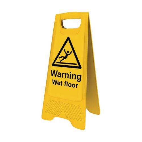 Heavy Duty A-Board 'Warning Wet Floor'