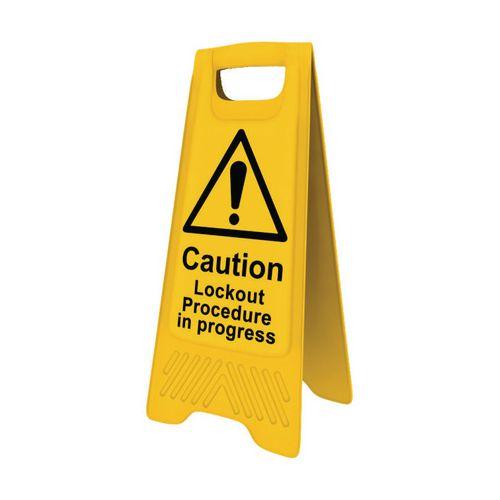 Heavy Duty A-Board Caution Lockout Procedure In Progress