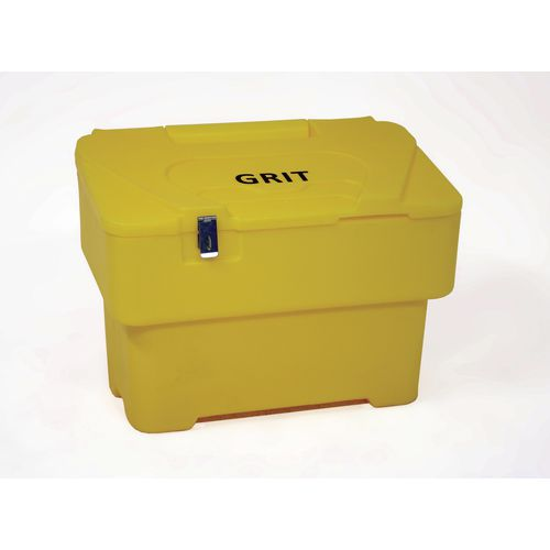 115 Litre Grit Bin With 1xHasp And Staple Lock Yellow