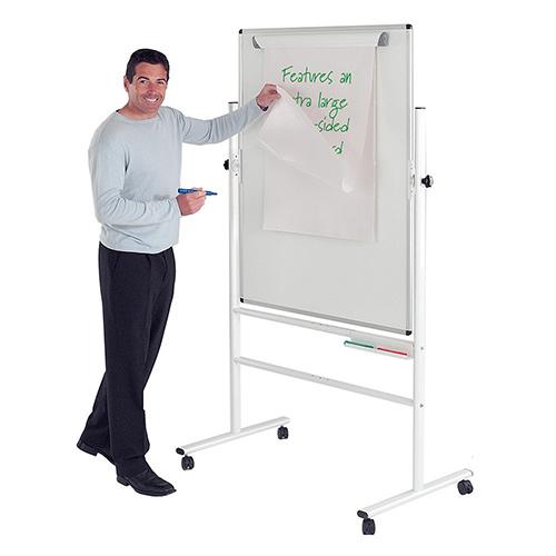 Write-On Revolving Whiteboard  1200x900mm (Hxw)  Magnetic