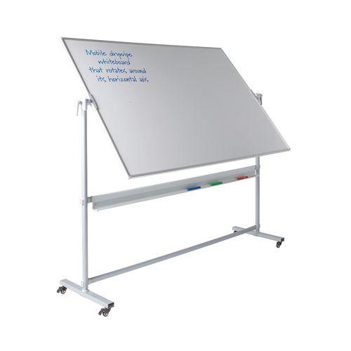 Write-On Revolving Whiteboard  1200x1800mm (Hxw)  Magnetic