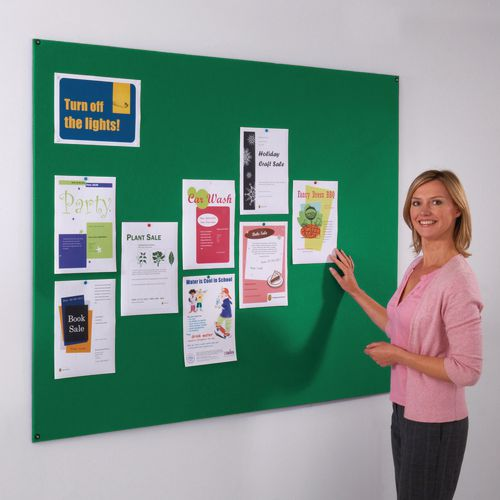 Frameless Felt Noticeboard 1200x1800mm (Hxw) Green