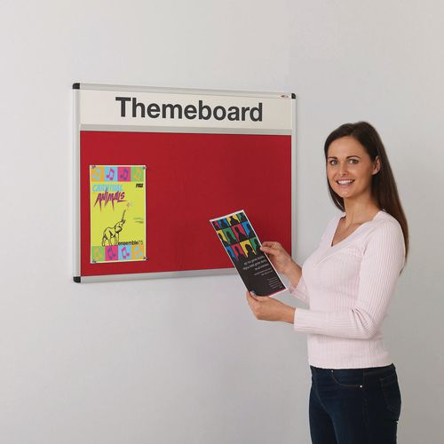 Themeboard Open Noticeboard  900x600mm (Hxw)  Red