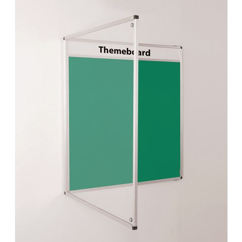 Themeboard Tamperproof Noticeboard  1200x1200mm (Hxw)  Green