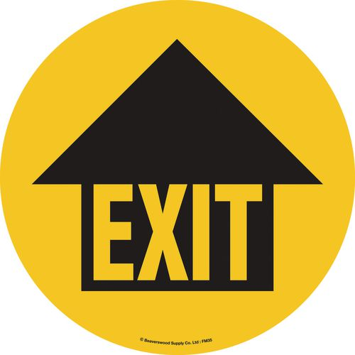 Floor Graphic Marker Exit With Arrow