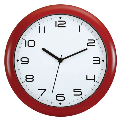 Wall Clock 300mm Diameter Red
