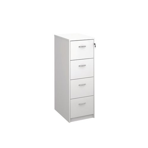 Filing Cabinet 4 Drawer White Classic Furniture