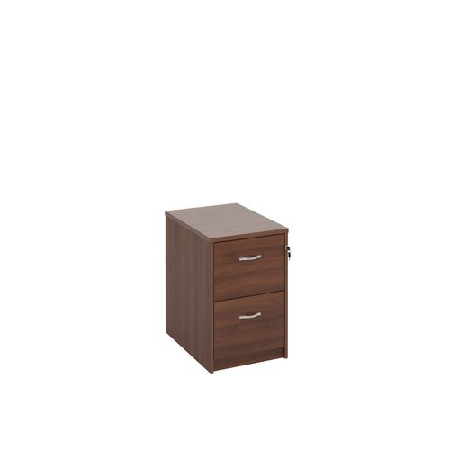 Filing Cabinet 2 Drawer Walnut Classic Furniture