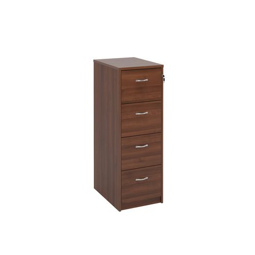 Filing Cabinet 4 Drawer Walnut Classic Furniture