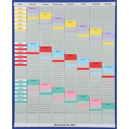 Weekly Planner T-Card Kit (Size 3)