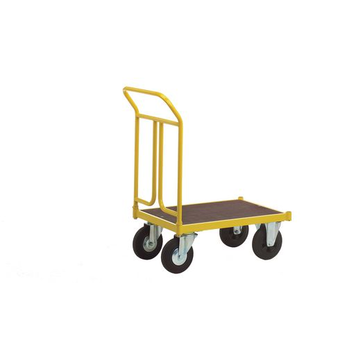 Platform Truck 750mm Long With One End On Rubber Tyres