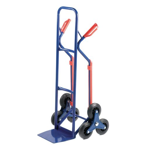 Stair Climbing Hand Truck With Skids - Capacity - 150kg, on stairs 60kg - Steel Construction