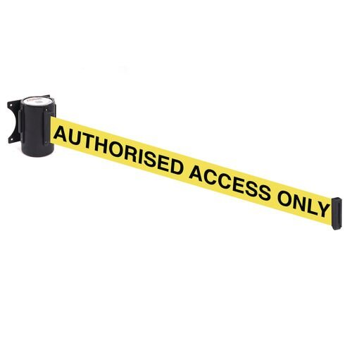 Wallmaster 400 Authorised Access Only 4.6M Yellow Webbing With Black Print