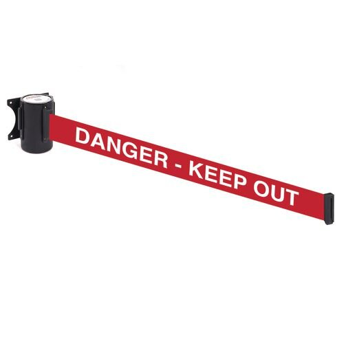 Wallmaster 400 Danger  Keep Out 4.6M Red Webbing With White Print