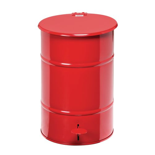 Waste Bin Red 475 X 360 X 360mm With Foot Pedal For Easy Opening