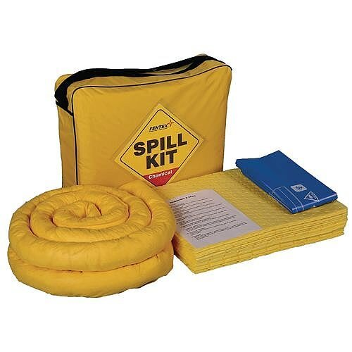 Shoulder Bag Yellow Chemical Spill Kit Absorption Capacity 50L