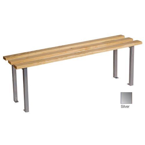 Classic Mezzo Bench 1500x325mm 3 Legs Silver