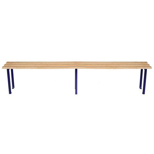 Classic Mezzo Bench 3000x325mm 4 Legs Blue