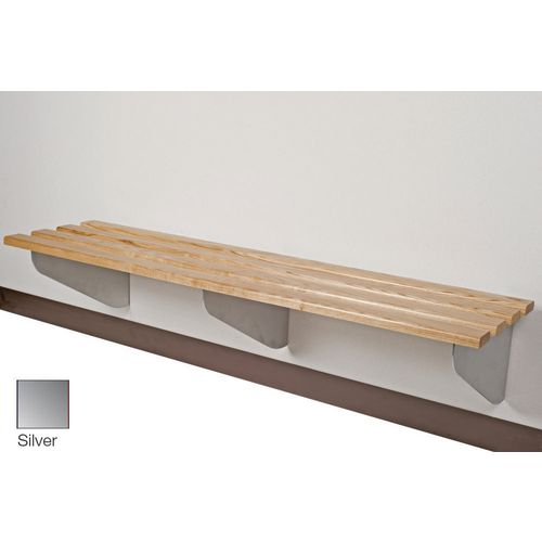 Classic Aero Bench 2500x450mm 4 Brackets Silver
