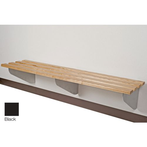 Classic Aero Bench 2500x450mm 4 Brackets Black