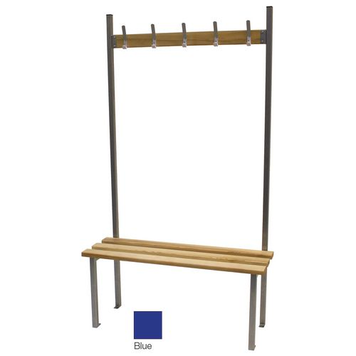 Classic Solo Bench 3000x390mm 15 Hooks 4 Uprights Blue