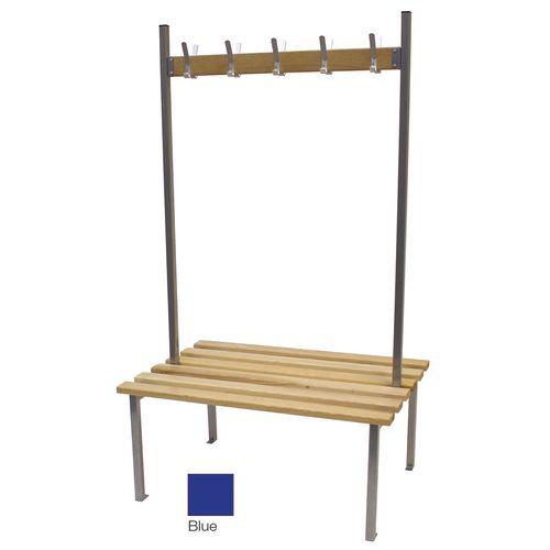 Classic Duo Bench 3000x745mm 30 Hooks 4 Uprights Blue