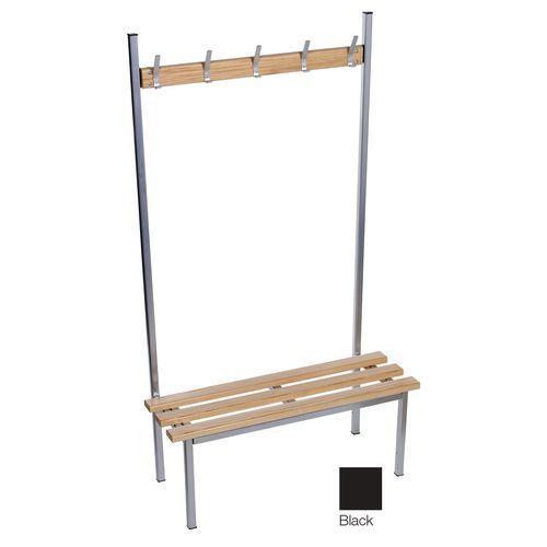 Evolve Solo Bench 1500x400mm 7 Hooks 2 Uprights Black