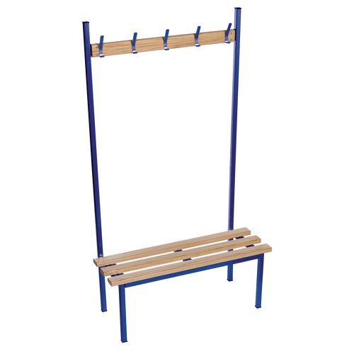 Evolve Solo Bench 1500x400mm 7 Hooks 2 Uprights Blue