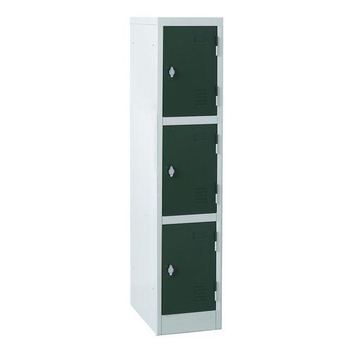 Atlas Ks2/3 3 Door Locker 1372mm Hx300mm Wx450mm D Swivel Catch Green