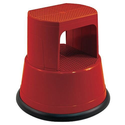 Fully Assembled Plastic Kick Step Red