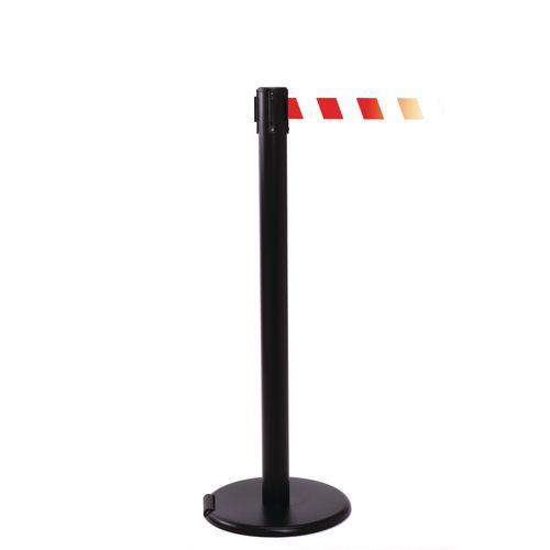 Rollerpro 250 Black Post 3.4M Red/White Diagonal Belt