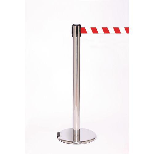 Rollerpro 250 Pol Stain Post 3.4M Red/White Diagonal Belt