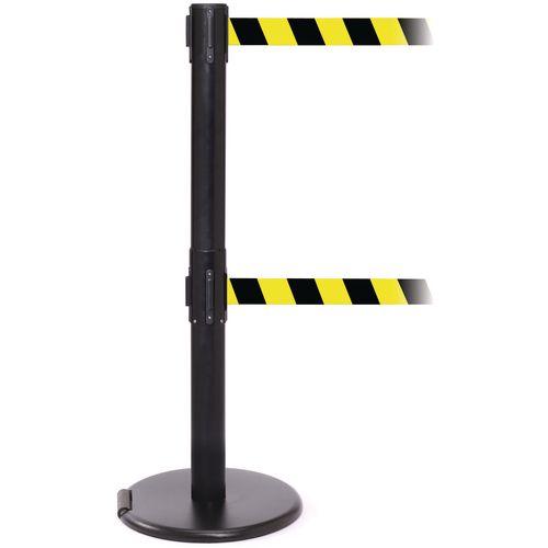 Rollerpro 250Twin Black Post 3.4M Yell/Black Diagonal Belt