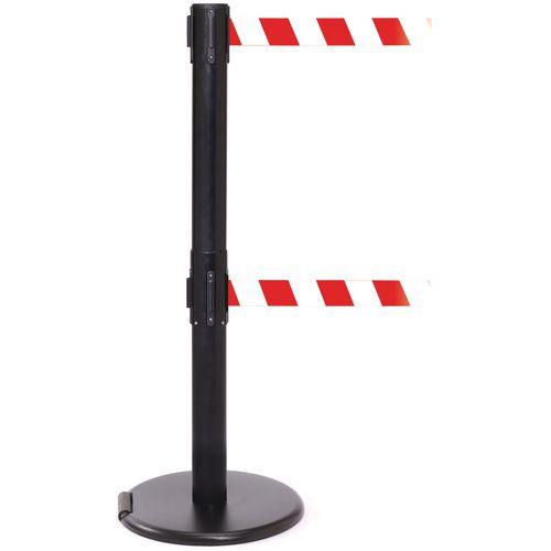 Rollerpro 250Twin Black Post 3.4M Red/White Diagonal Belt