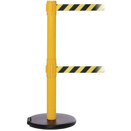 Rollerpro 250Twin Yellow Post 3.4M Yell/Black Diagonal Belt